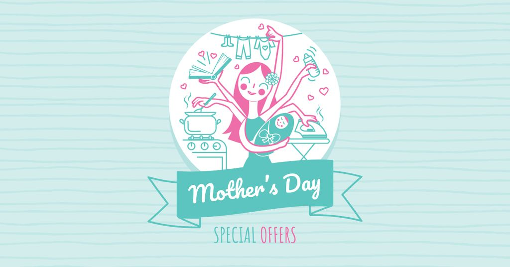 Mother's Day Offer with multitasking Mother — Create a Design