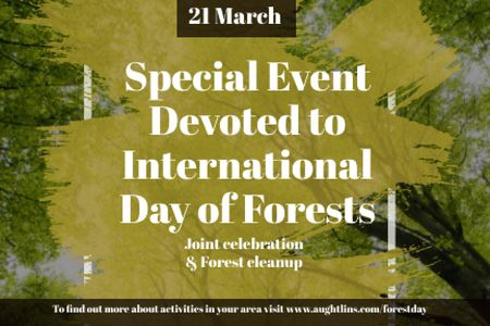 Plantilla de diseño de Special Event devoted to International Day of Forests Gift Certificate