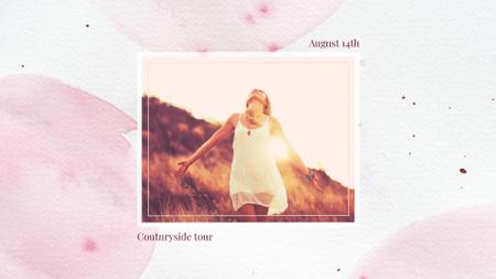 Modèle de visuel Woman dancing in sunlight - FB event cover