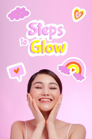Skincare Offer with Cute Young Girl Pinterest – шаблон для дизайна
