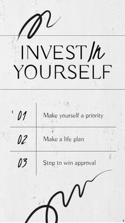 Manhood Inspiration with Motivational Phrases Instagram Story Modelo de Design