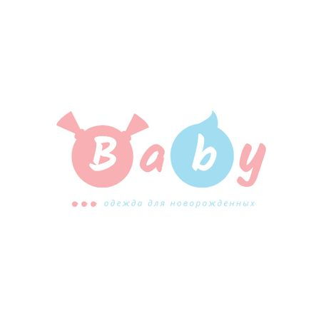 Childhood Concept with Boy and Girl Silhouettes Logo – шаблон для дизайна