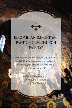 Modèle de visuel Evangelist Catholic Church Invitation - Pinterest