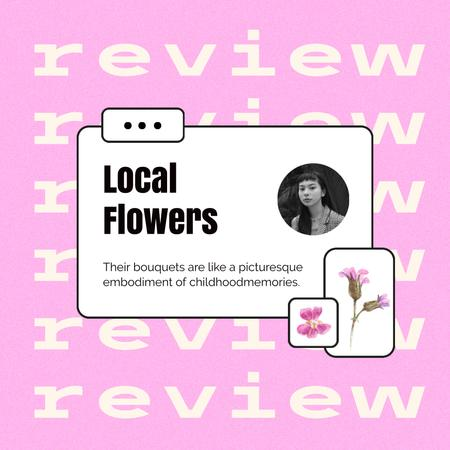 Flowers Store Customer's Review Instagram Design Template