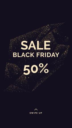 Template di design Black Friday sale on glitter Instagram Story
