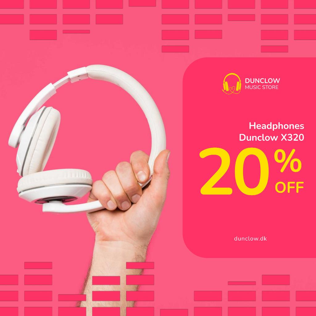 Special Sale with Man holding headphones — Maak een ontwerp