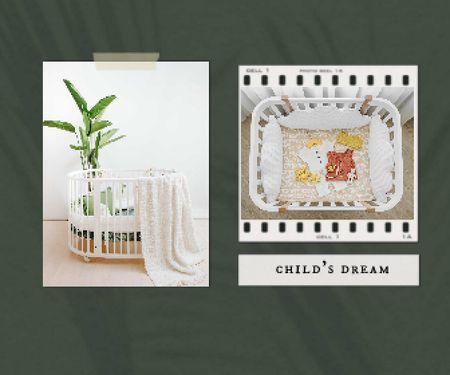 Cute Child's Cots Sale Offer Large Rectangle – шаблон для дизайну
