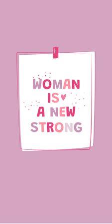 Girl Power Inspirational Citation Graphic – шаблон для дизайна