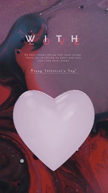 Plantilla de diseño de Beating Valentine Heart on Texture Instagram Video Story