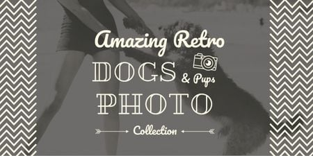 Template di design amazing retro dogs photo collection poster Image