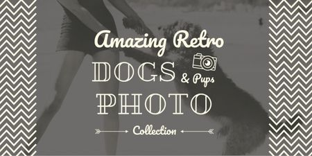 Designvorlage amazing retro dogs photo collection poster für Image