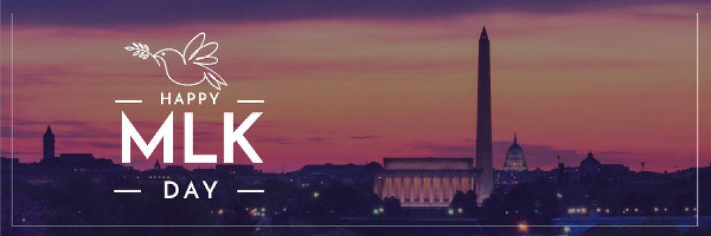 Modèle de visuel Martin Luther King day Greeting - Email header