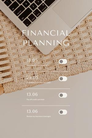 Plantilla de diseño de financial planning Pinterest