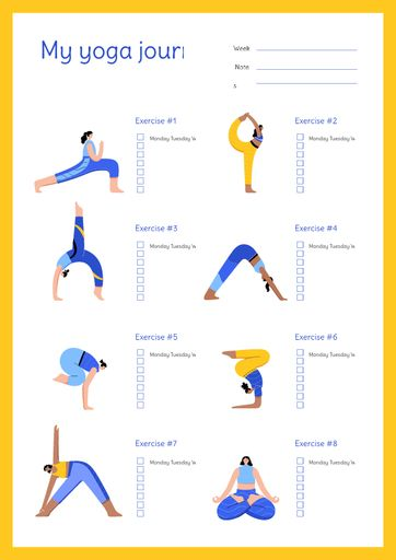 Yoga Journal With Woman Doing Exercise