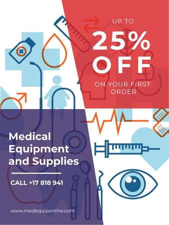 Plantilla de diseño de Medical equipment and supplies ad Poster US