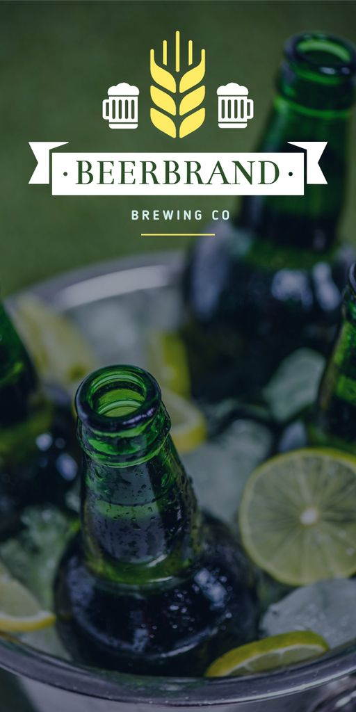 Brewing company promotion with Beer bottles — Створити дизайн