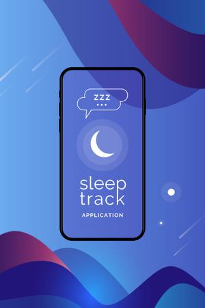 Modèle de visuel Sleep Tracker App on Phone Screen - Pinterest