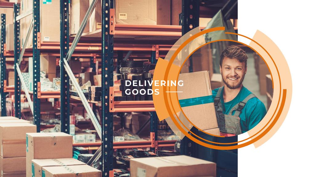 Man working in delivery service – Stwórz projekt