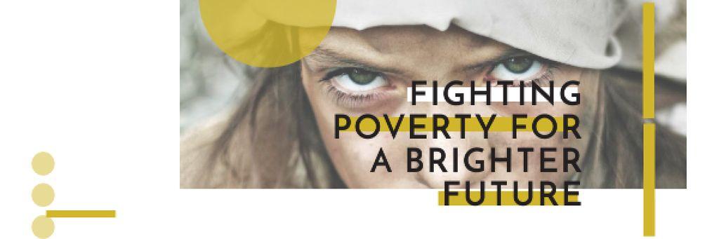 Citation about Fighting poverty for a brighter future — Crea un design