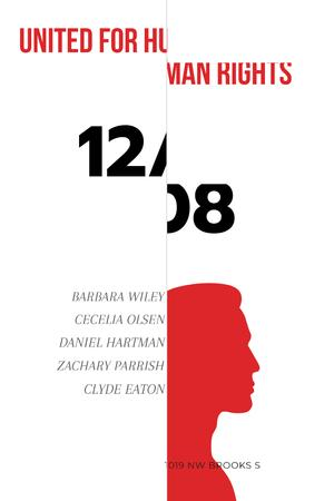 Plantilla de diseño de Human Rights Event Announcement with Man's Silhouette Pinterest