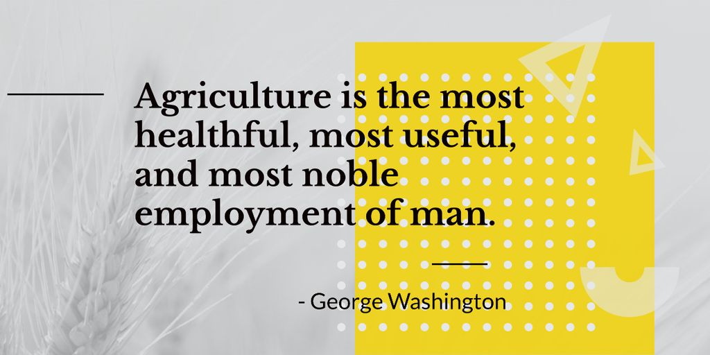 agricultural quote with ear of wheat Image – шаблон для дизайну