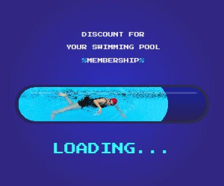 Discount for Swimming Pool Membership Medium Rectangle Modelo de Design