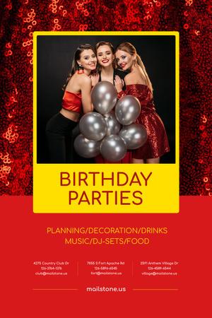 Birthday Party Organization Services Pinterest Design Template