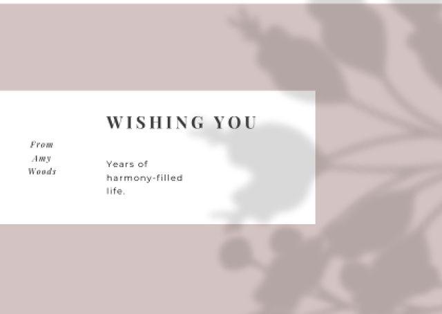 Designvorlage Wedding Greeting on floral pattern für Card