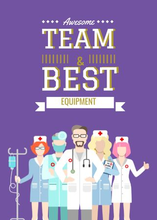 Professional team of medical staff Flayer Modelo de Design