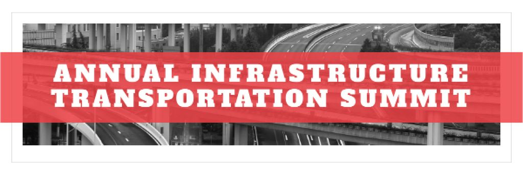 Annual infrastructure transportation summit Email header – шаблон для дизайна