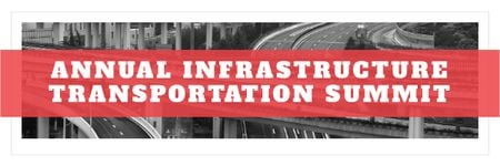 Ontwerpsjabloon van Email header van Annual infrastructure transportation summit