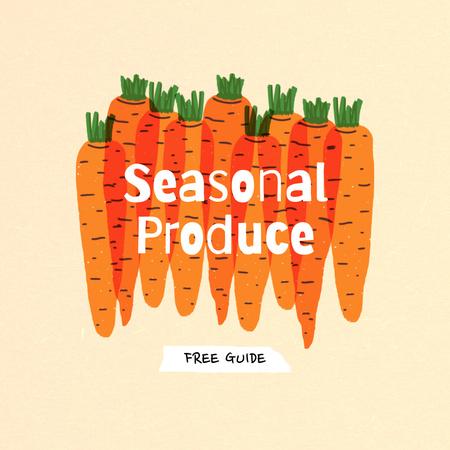 Modèle de visuel Seasonal Produce Ad with Carrots Illustration - Instagram