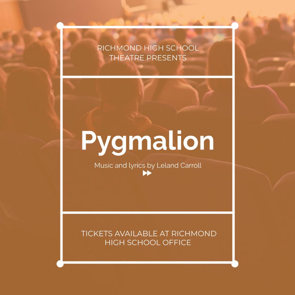 People watching Performance in Theatre Instagram – шаблон для дизайну