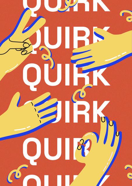 Platilla de diseño Funny Illustration with Hands showing Gestures Poster