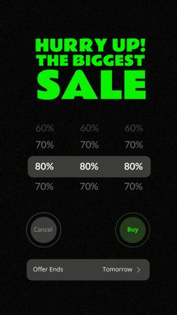 Modèle de visuel Big Sale Discounts Announcement - Instagram Story