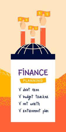 Finance Planning Tips Graphic Tasarım Şablonu