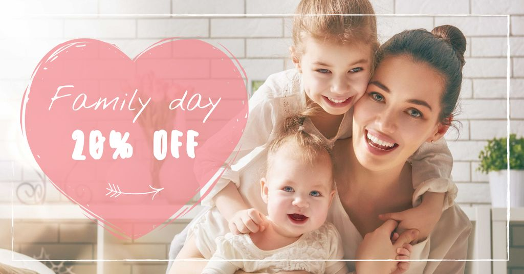 Family Day Offer with Mother and Children — Créer un visuel