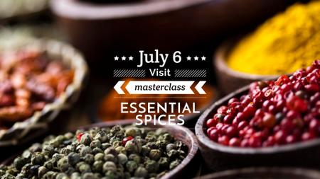 Masterclass ad with Spices and peppers FB event cover Modelo de Design
