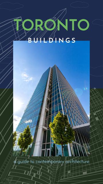 Modèle de visuel Real Estate Ad with Modern glass building - Instagram Story