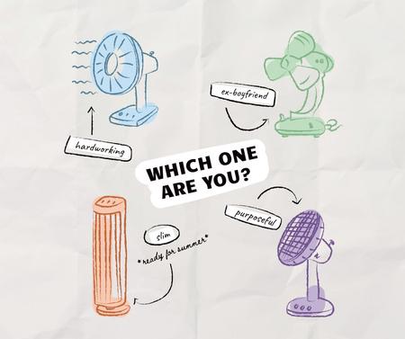 Plantilla de diseño de Funny Illustration of Various Ventilators Facebook