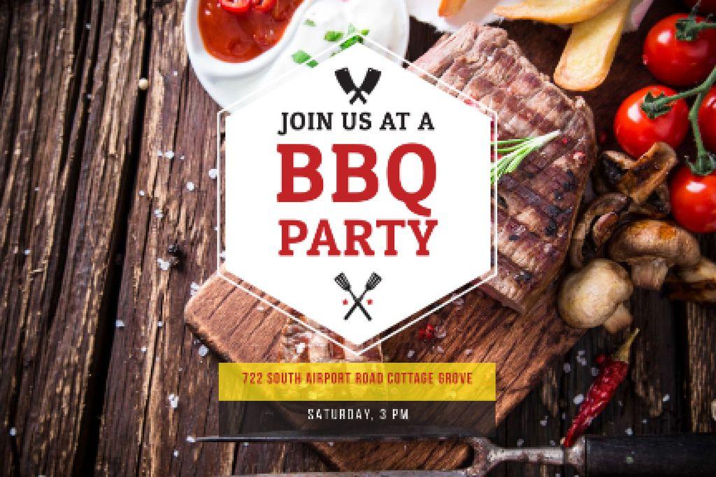BBQ party Announcement — Crear un diseño