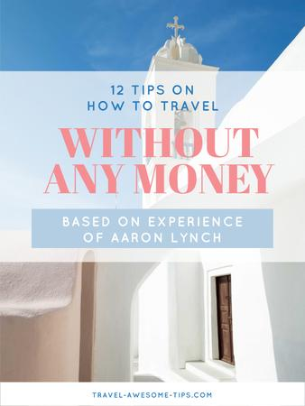 Template di design Travelling without money ad Poster US