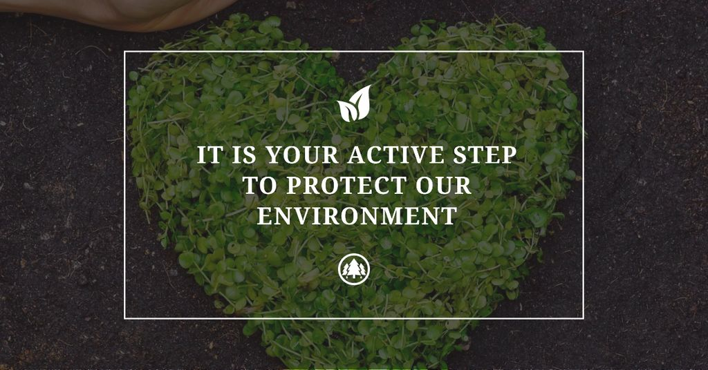 Citation about protect environment — Créer un visuel