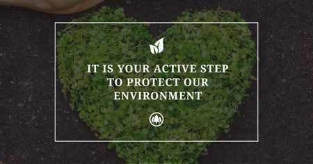 Citation about protect environment Facebook AD – шаблон для дизайну