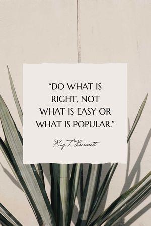 Szablon projektu Inspirational quote on Tropical plant Tumblr