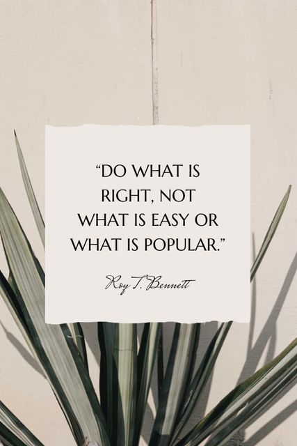 Inspirational quote on Tropical plant Tumblr Design Template