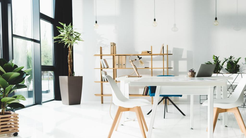 Business meeting room white Interior — Modelo de projeto