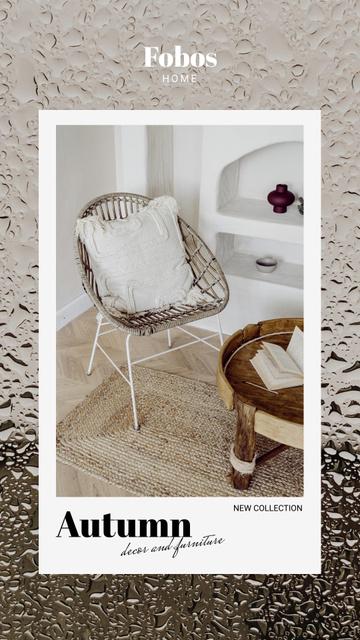 Autumn Sale of Cozy Furniture Offer Instagram Story – шаблон для дизайну