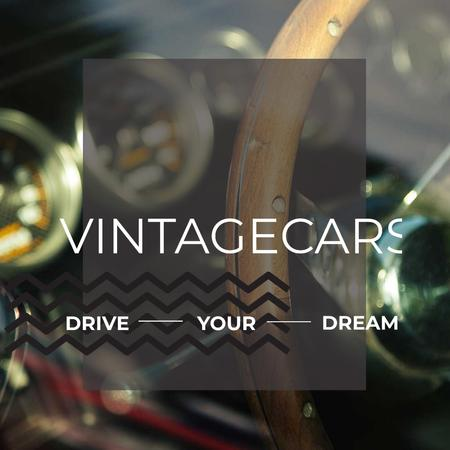 Shiny vintage car interior Instagram ADデザインテンプレート