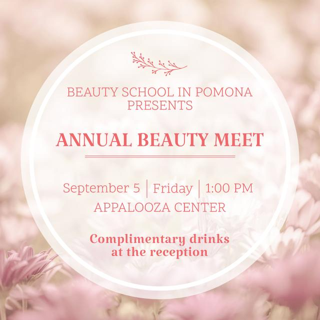 Annual Beauty Meet Announcement Instagram – шаблон для дизайну